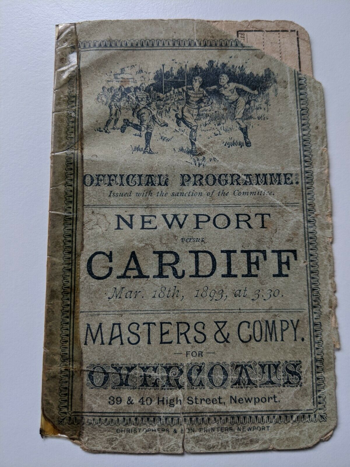 1893 Newport v Cardiff programme (1)