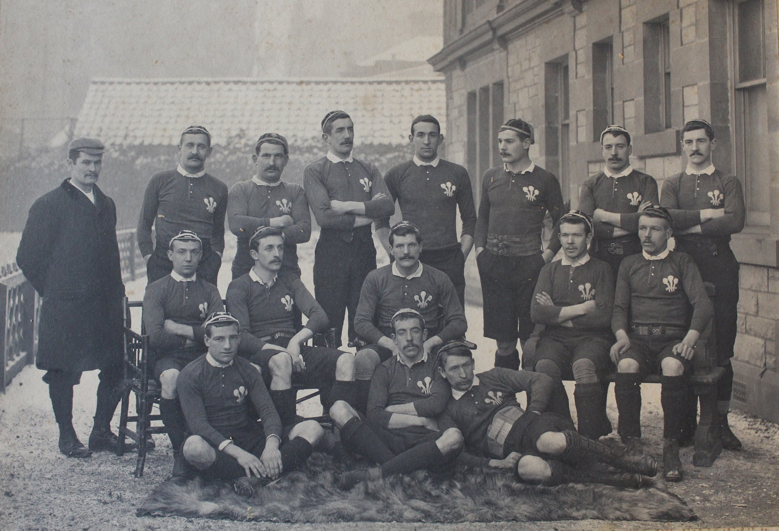 1895 Welsh Team vs Scotland (Raeburn Place) Rugby Memorabilia Society