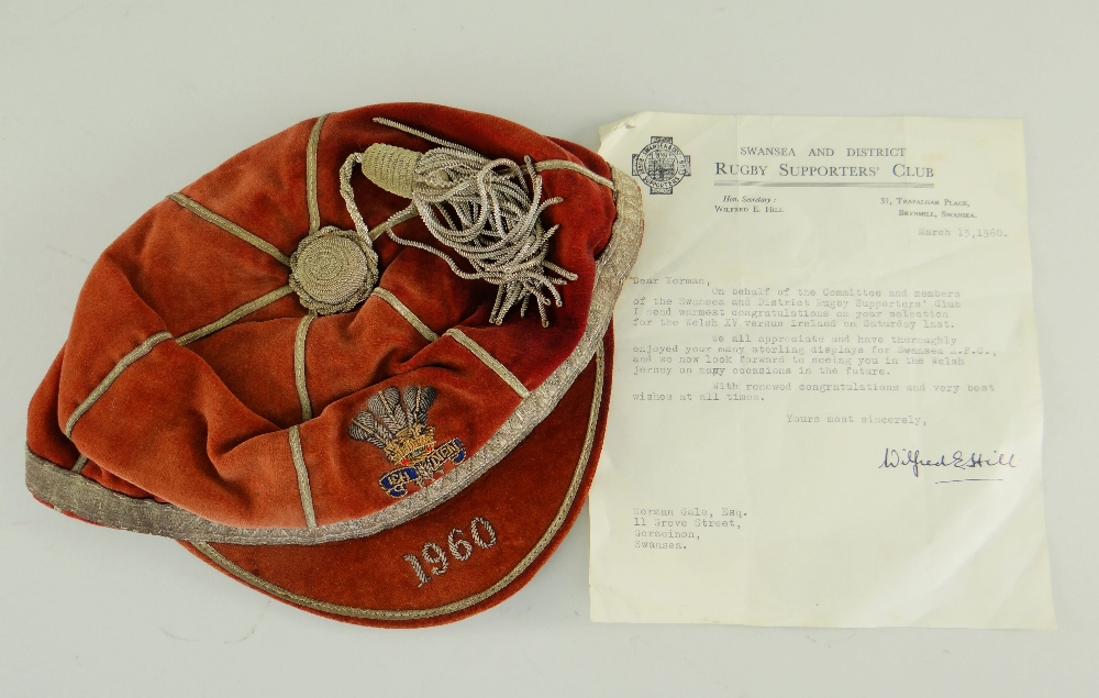 1960 Wales Rugby Cap - Norman Gale