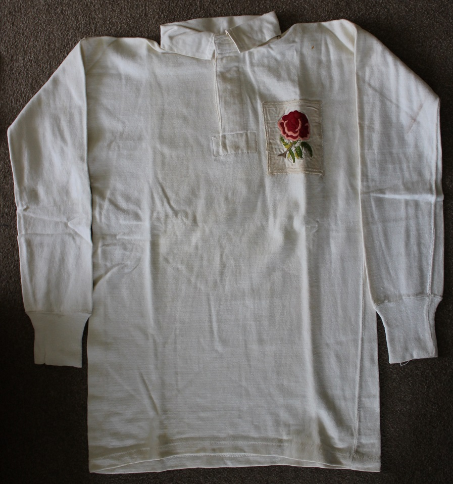 Bev Risman - match worn England rugby union jersey - Rugby Memorabilia Society (2)