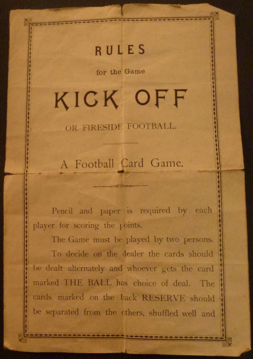 Kick Off Rules Book (2)