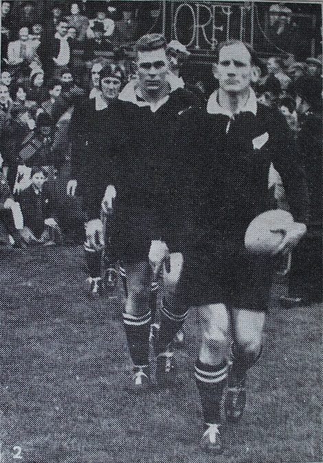 R.R Elvidge - NZ Captain Leads his side onto the field
