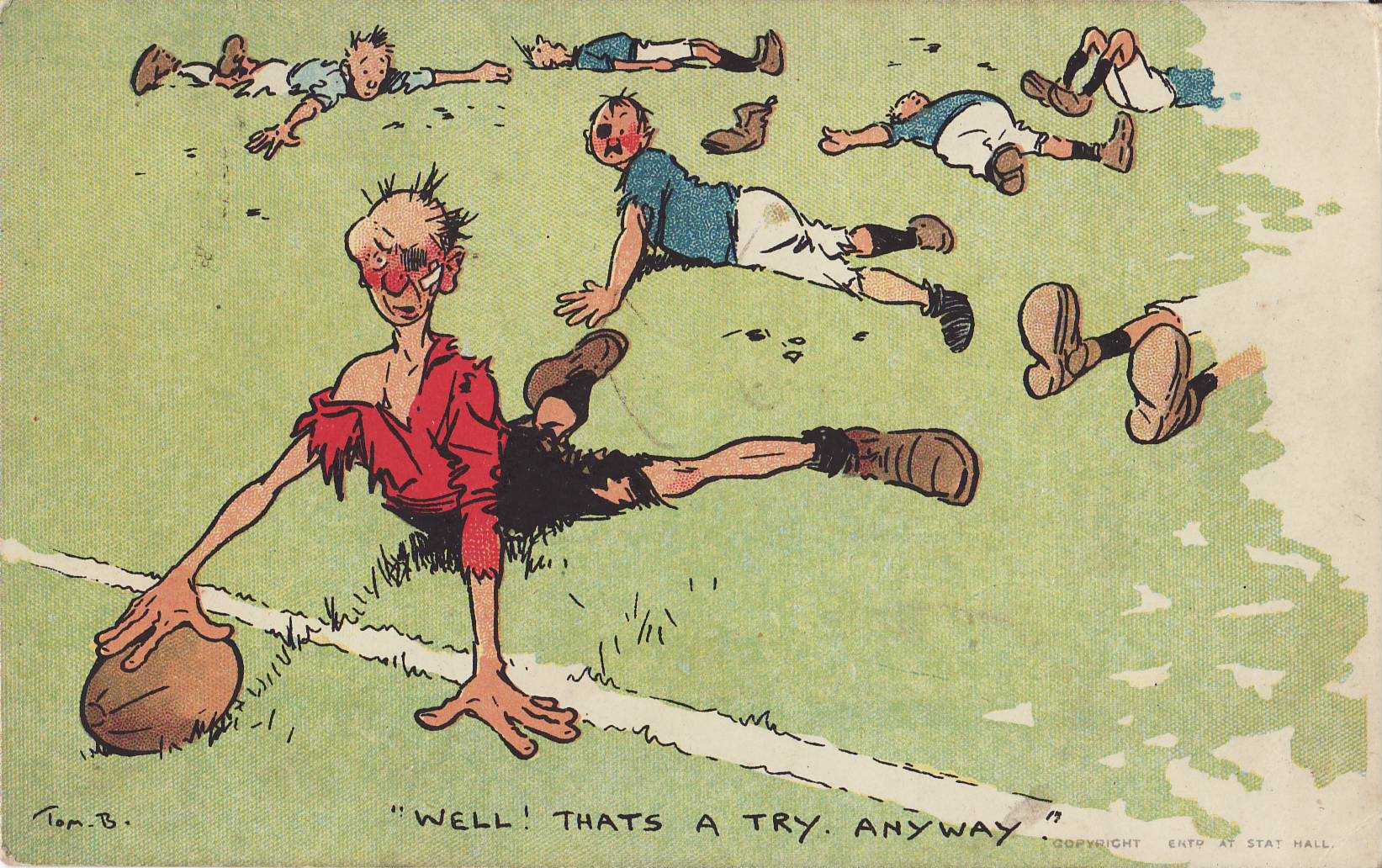 Tom Browne - Rugby Poscards (2)