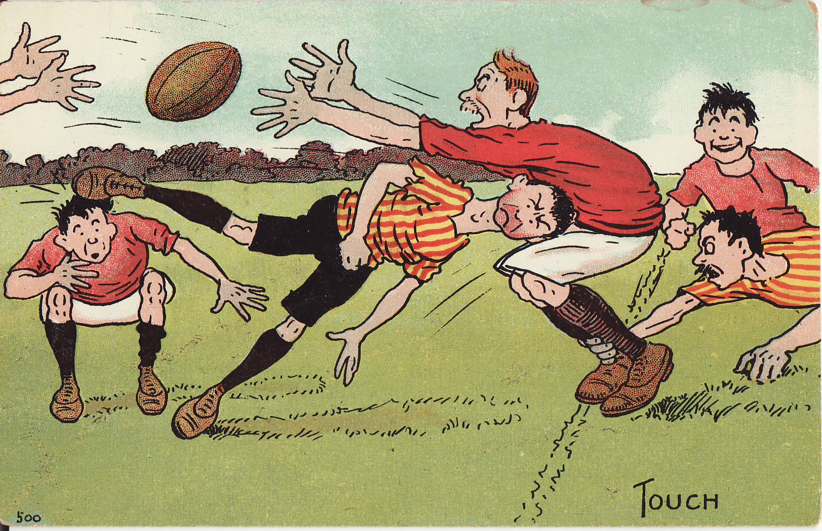 Tom Browne - Rugby Poscards (4)
